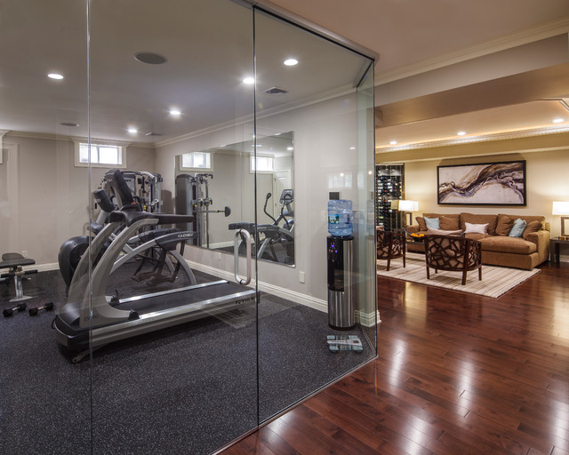 Marvelous Basement Home Gym Design Ideas