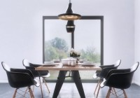 Acrylic Chairs Tough Concrete Floor Shiny Pendant Lights Glass Sliding Door