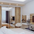 Bed Unique White Stool Minimalist White Sideboard Exotic Souvenirs Ceiling Lights