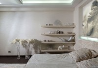 Bedroom with Planters Accompanied the and Used White Color of Decor Given Nice Condition in the Decor