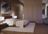 Cabinetry and White Pillows and Duvet and the Wooden Wall Completed the Area