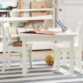 Chairs and Table in White Color and the Ball and Storage Completed the Area
