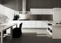 Dark Pantone Chairs Indoor Plants Pendant Light Contemporary White Kitchen Cabinet