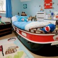 Dinning Room with High Sea with Boat Pirets Themed in the Boys Room Given Nice for the Boys Area