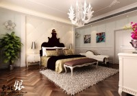 Flooring Splendid Chandelier Artistic Bed Headboard Golden Floral Print Quilt Glaring Wall Murals