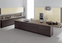 Kitchen Cabinet Laminate Flooring Marble Countertop Glossy Glass Tabletop Modern Kitchen Appliances