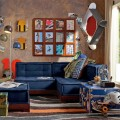 Living Room with Skaterboarding Themed Boys Room Blue Lounge and the Units Completed the Decor