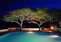 Night View Showing Fesh Swimming Pool that Given Nice Atmosphere ni the Area