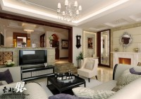 Sophisticated TV and Lavish Sofa Set Shiny LED Lights Crystal Chandelier
