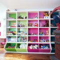 Sutle Athic with Pink and Green Storage Cubes and Spiderman