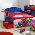 Themed that Combined Blue and Red Color Make the Room More Enjoyable