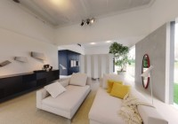 White Color and Yellow Soft Pillows in Living Room Area Given Nice